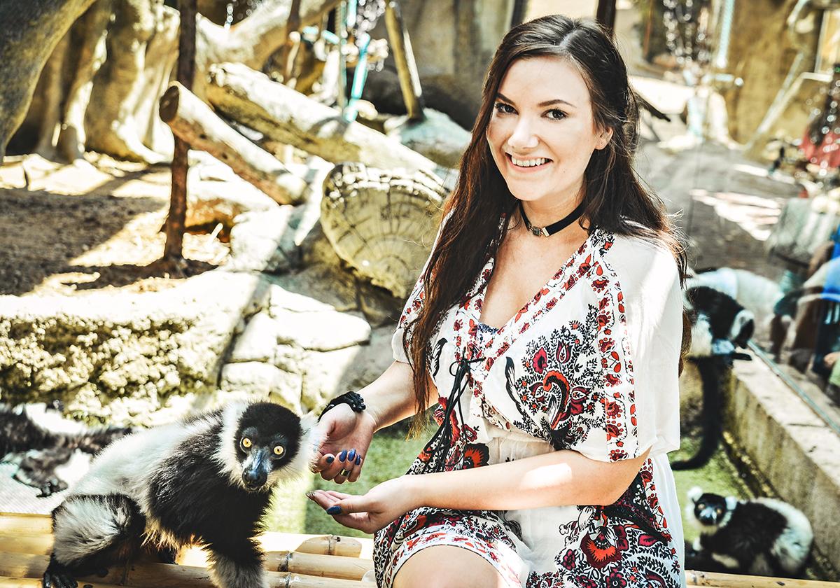 Mundomar encouter with lemurs