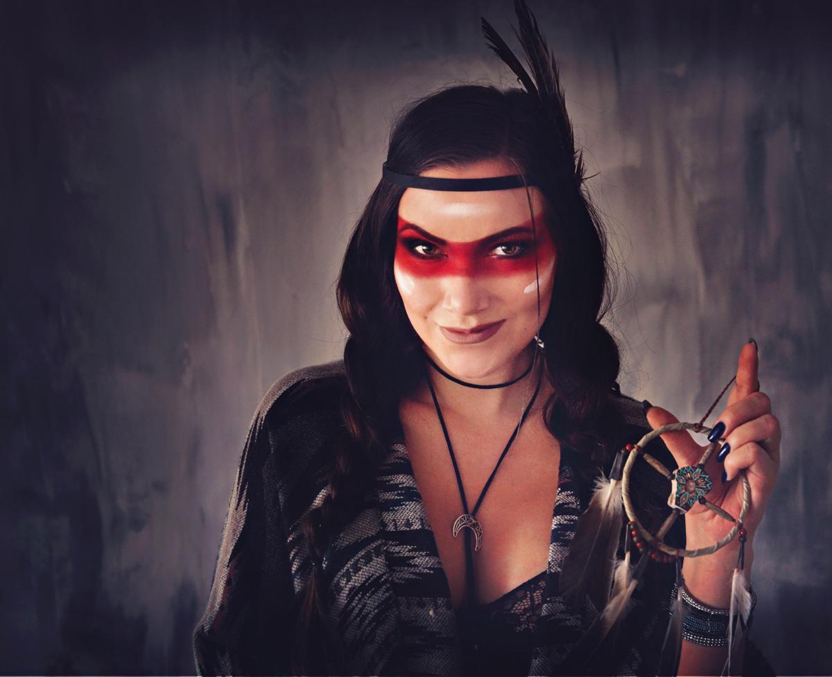Native American Indian Girl Makeup Idea