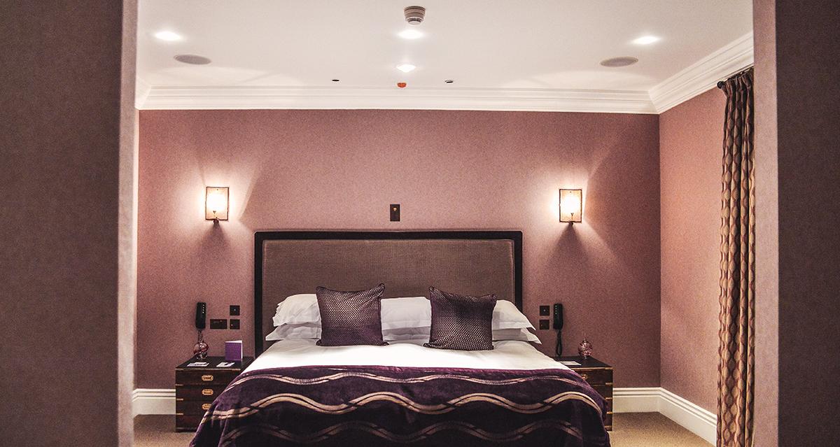 Hotel room at Seaham hall
