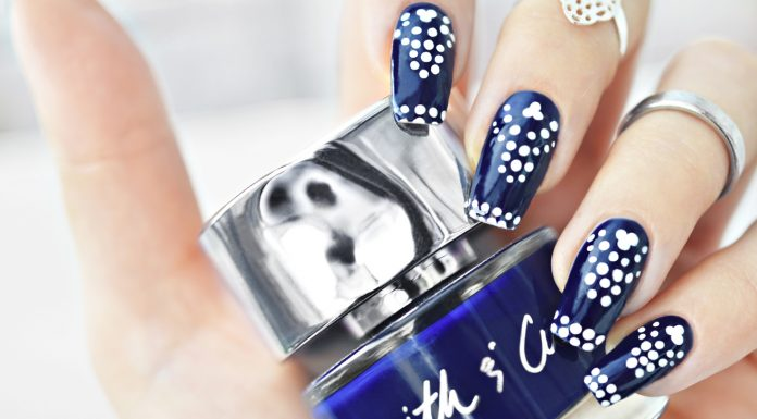 Smith & Cult Kings & Thieves - Blue Nails + dotted nail art