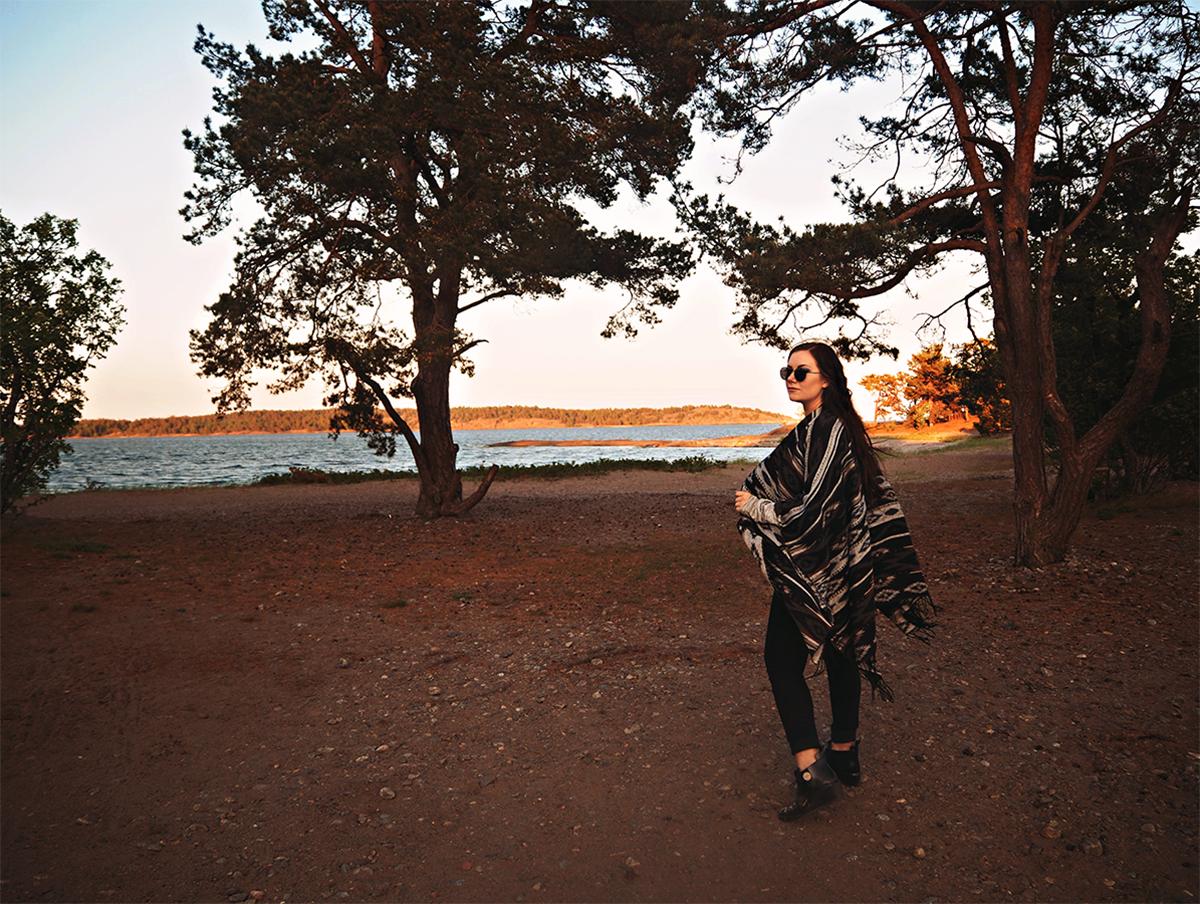 Solnedgång i Knappelskär
