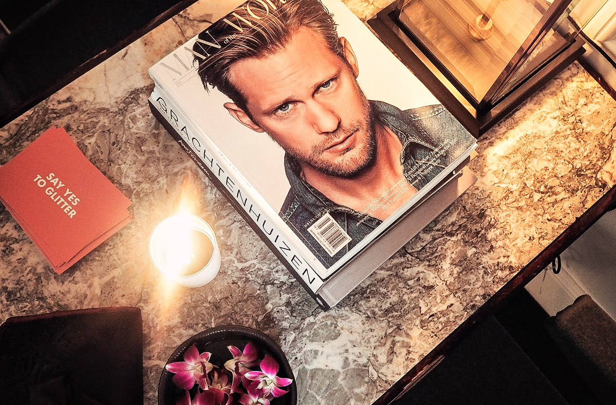 Magazine with Alexander Skarsgård