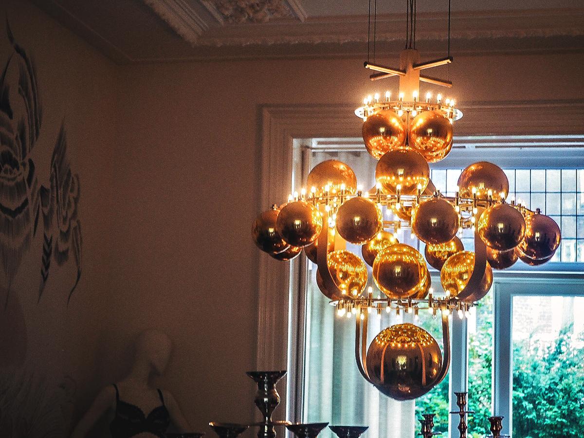 Cool lamp at Villa Nicola