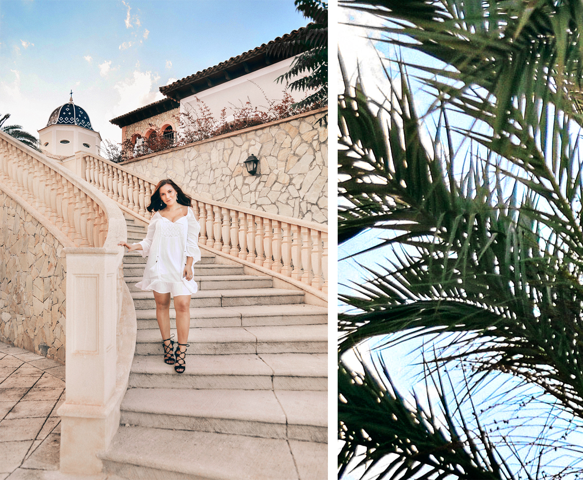 Outfit: White off shoulder dress