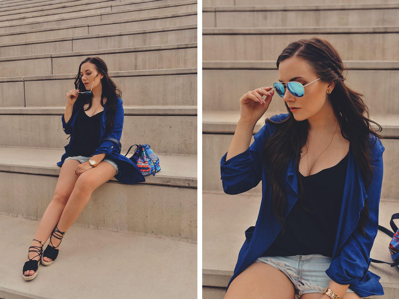 Denim Blue Outfit + Desigual Bag