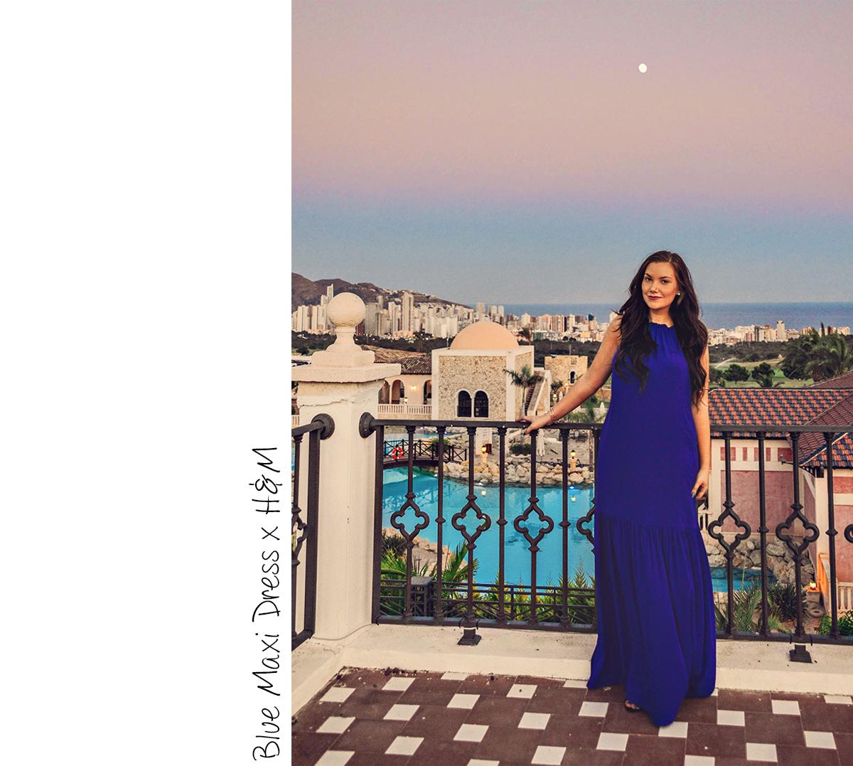Blue Maxi Dress in Benidorm