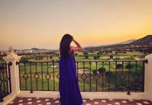 Blue Maxi Dress & Benidorm Sunset