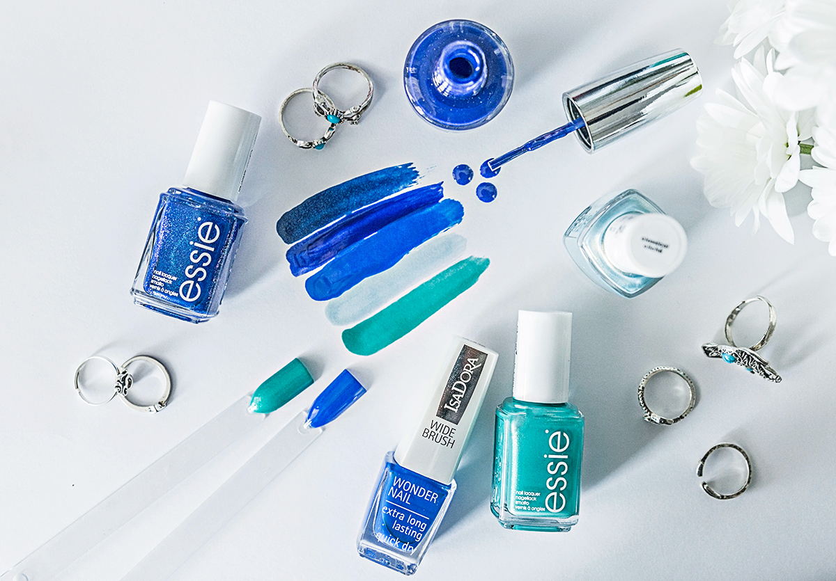 Aqua & Blue Nail Polishes Summer 2016