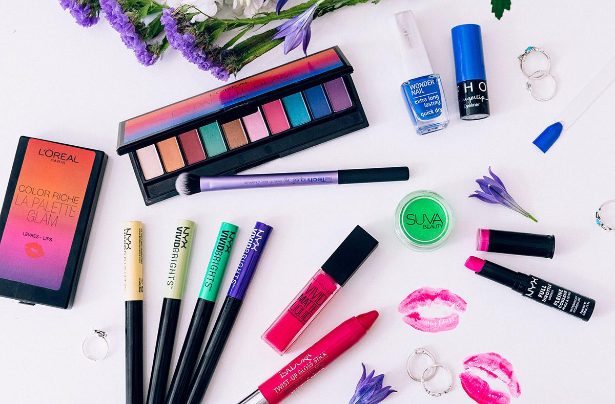 Färgstark makeup att satsa på sommaren 2016