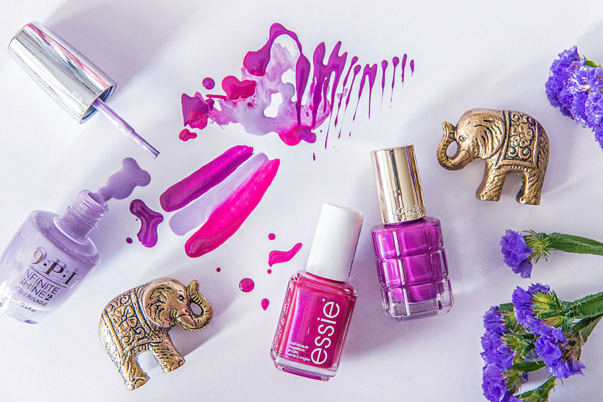 Purple nail polishes 2016