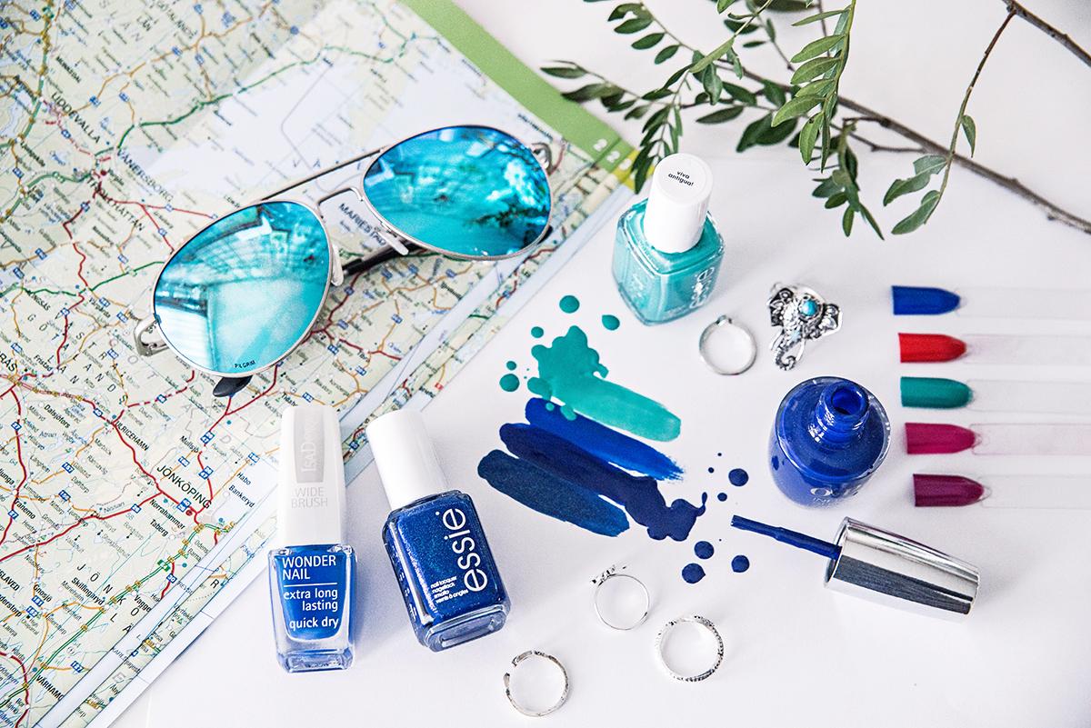5 heta nagellacksnyanser att prova i sommar - Blue & Aqua Nail Polishes 2016