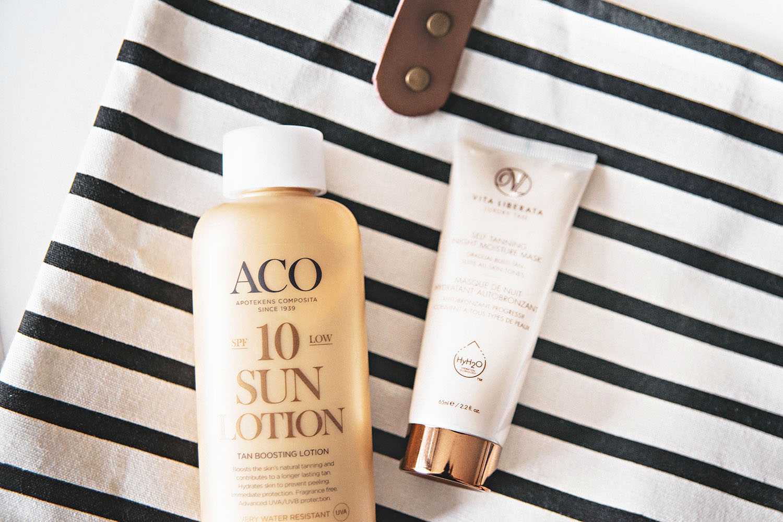 ACO SPF 10 Sun Lotion Tan Boosting Lotion & Vita Liberata Self Tanning Night Moisture Mask