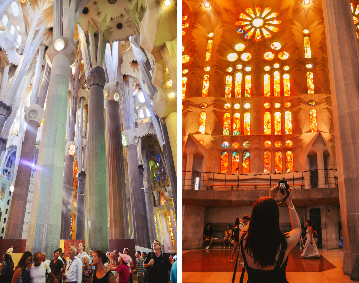 Inside Sagrada Família in Spain