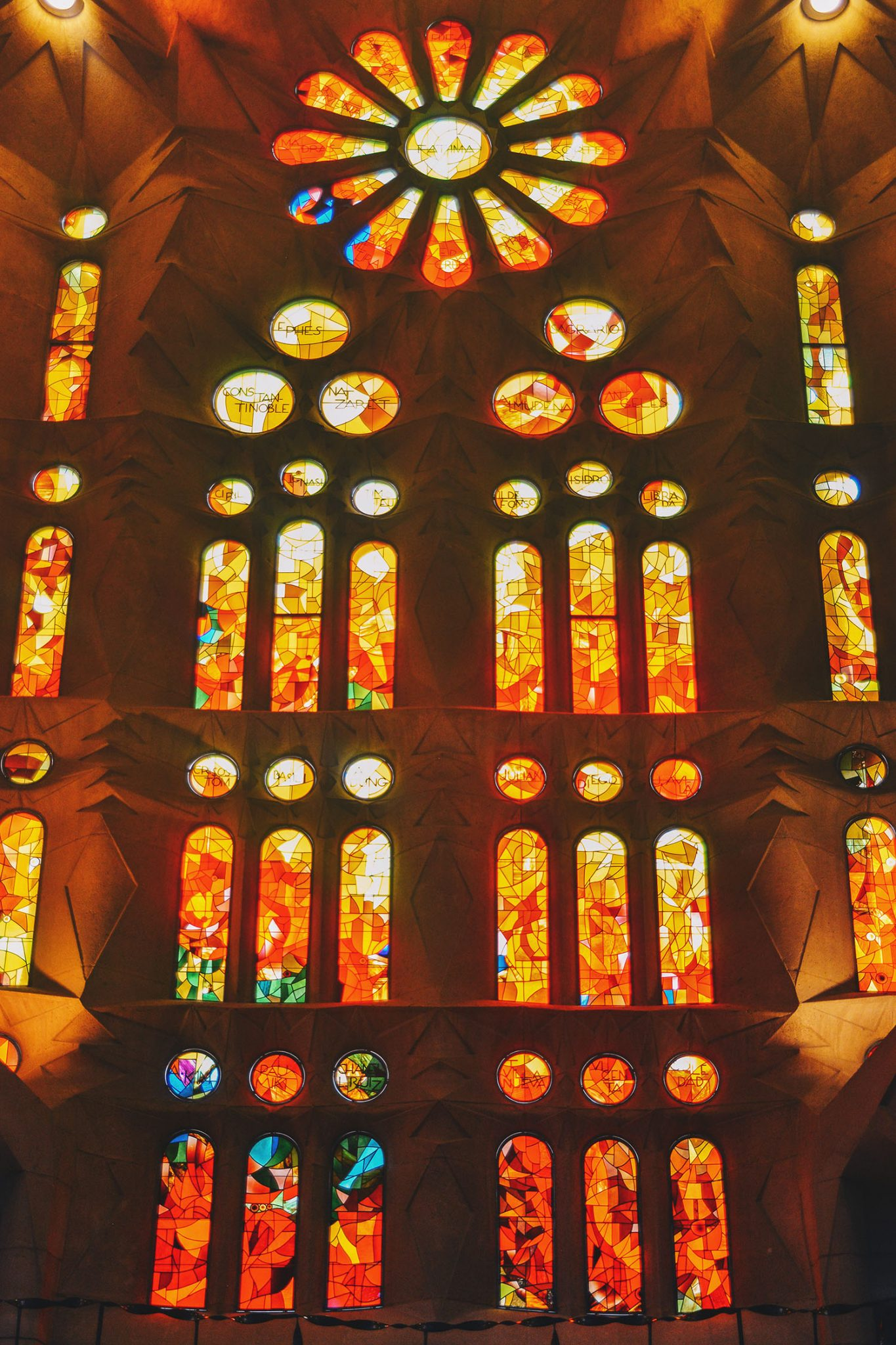 Beautiful colorful window in Barcelona