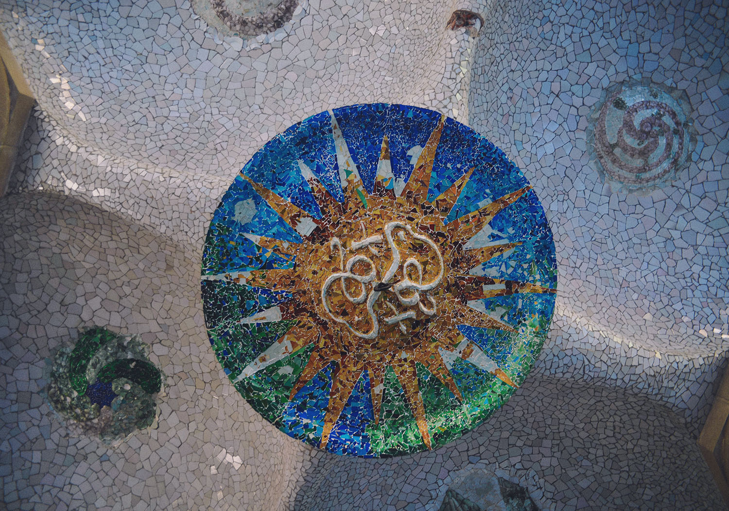 Park Guell Colorful Mosaic Work