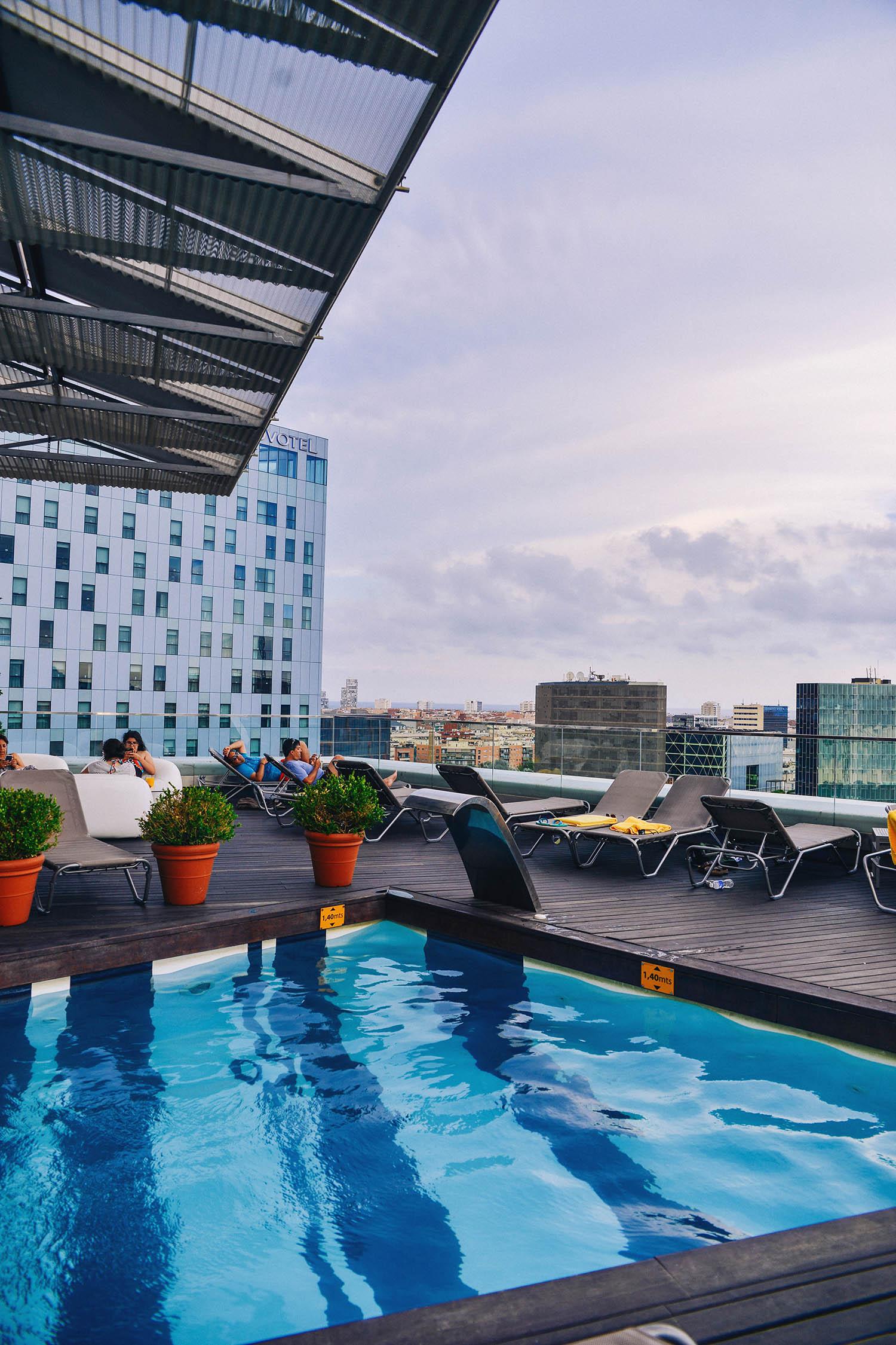 Rooftop pool at Hotel Silken Diagonal