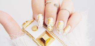 DIY: Gold Marble Nail Design| Guldiga marmornaglar