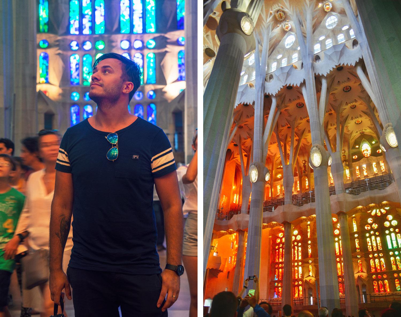 Inside Basilica de la Sagrada Familia