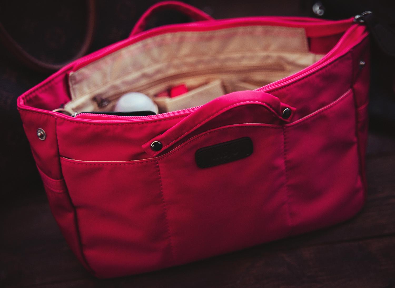 Insjö Pink Handbag Organizer