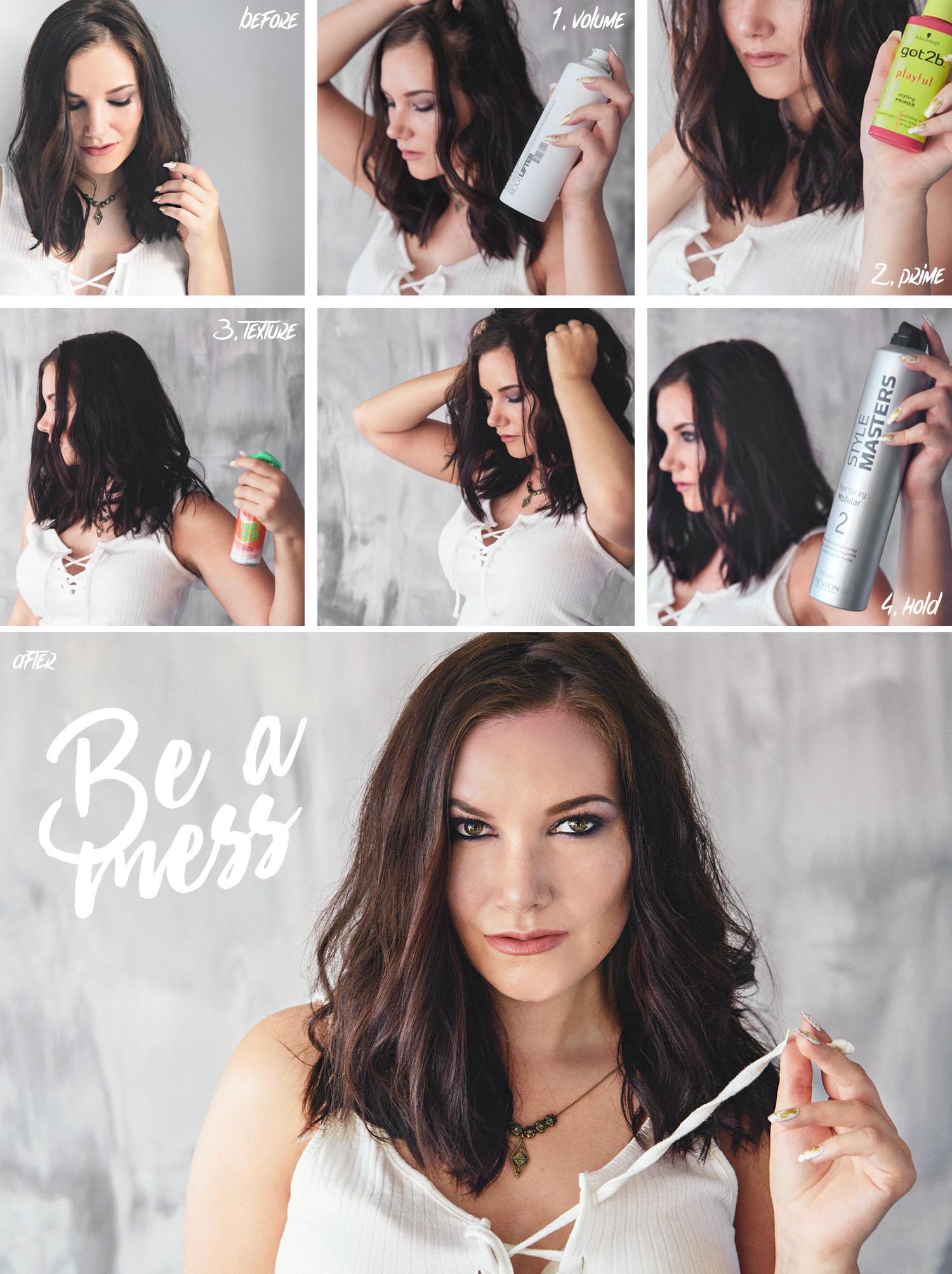Messy medium hairstyle - Slarvig frisyr för medellångt hår