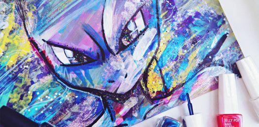 DIY: Mewtwo Pokemon Go Nail Polish Painting