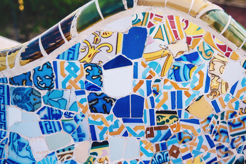 Colorful mosaic at Park Güell
