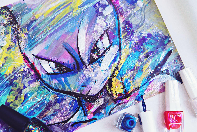 DIY: Nagellacksmålning inspirerad av Mewtwo & Pokemon Go