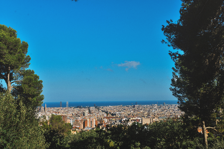 View from Park Güell in Barcelona