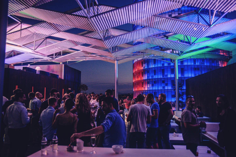 Rooftop bar at Hotel Silken