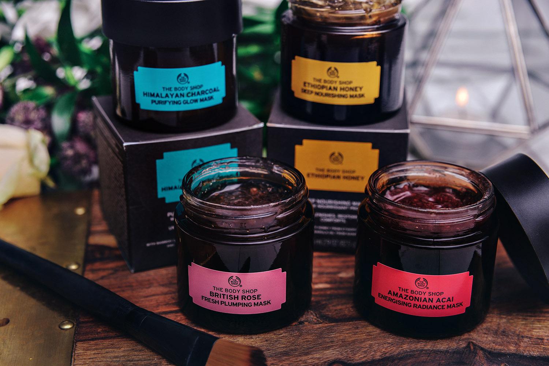 The Body Shop 100% vegetariska ansiktsmasker med superfood