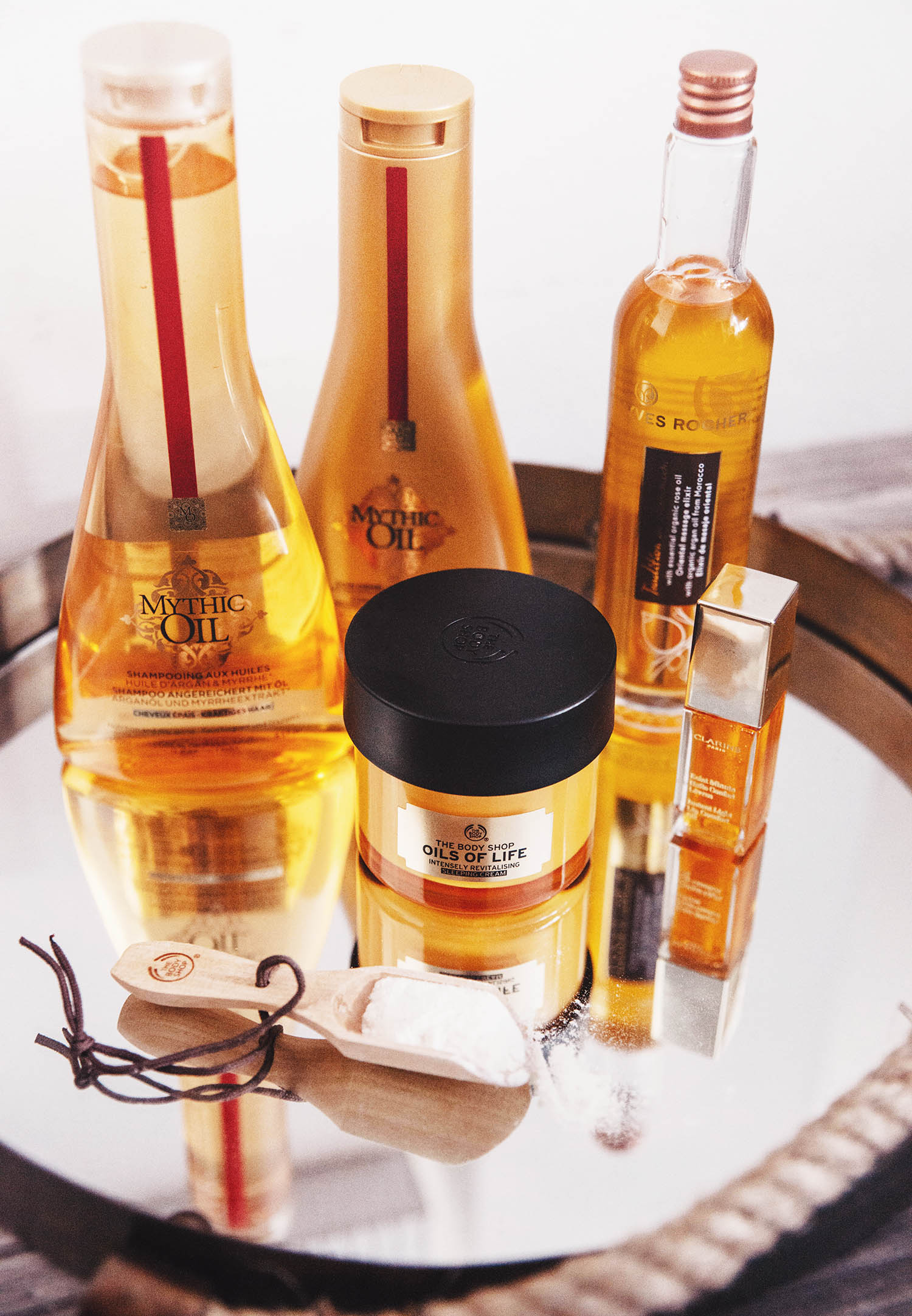 Luxury at-home spa products