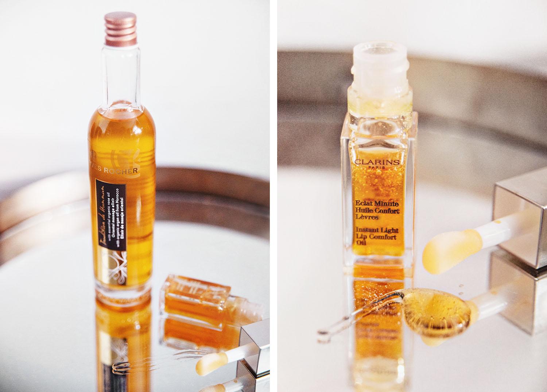 Yves Rocher Massage Elexir & Clarins Instant Light Lip Comfort Oil