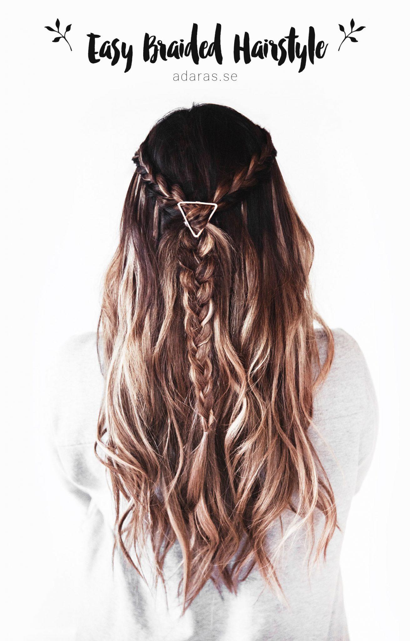 Easy Braided Hairstyle - Frisyrtips med 3 enkla flätor