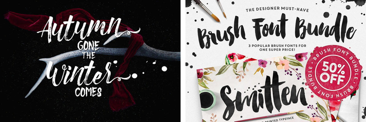 Handwritten brushes from CreativeMarket