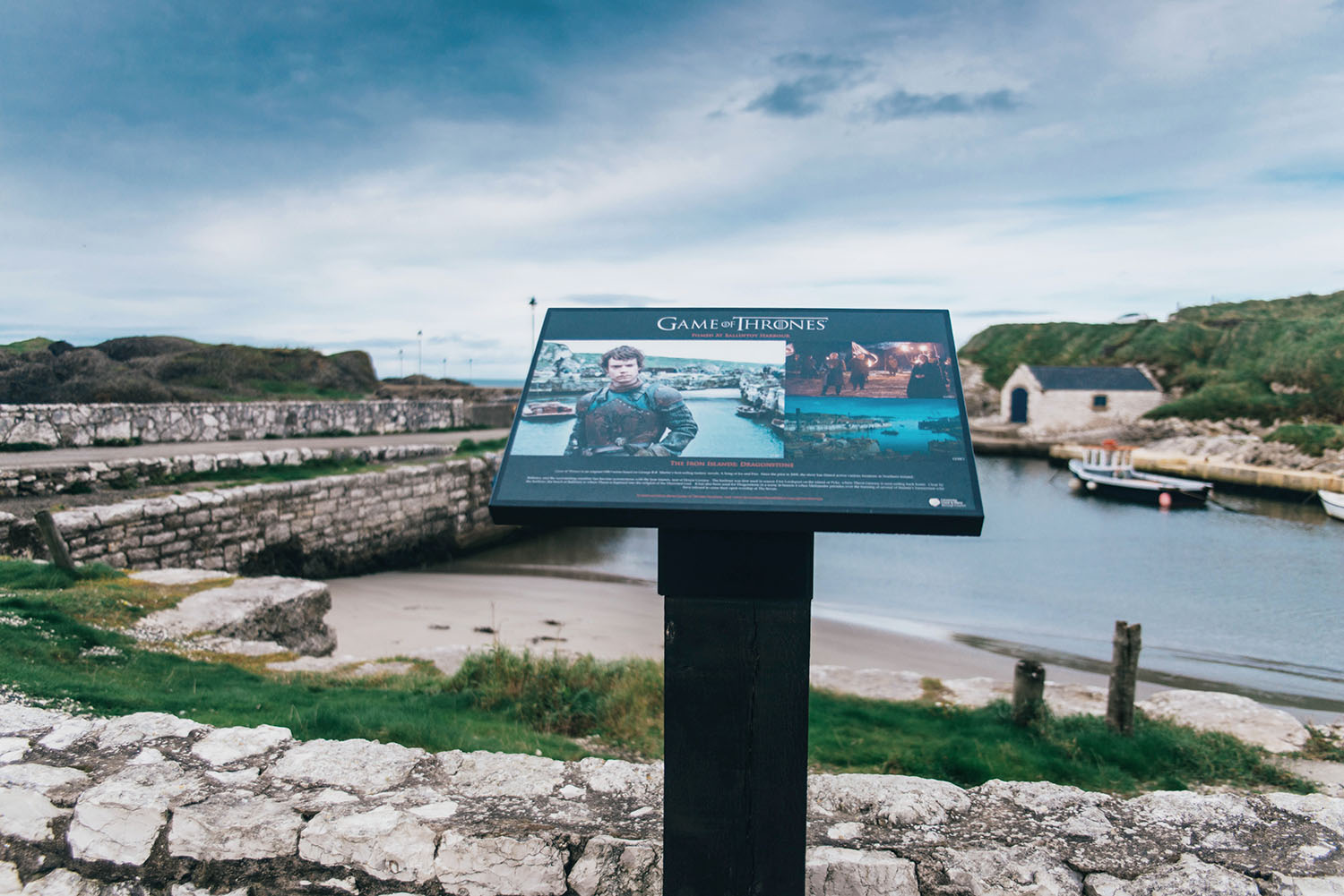 Game of Thrones Location: Ballintoy Harbour (Lordsport) The port of Pyke in the Iron Islands