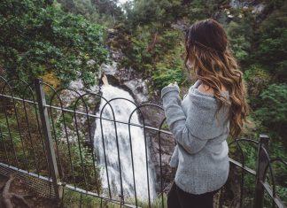 Ida Josefin Eriksson by Falls of Foyers waterfall
