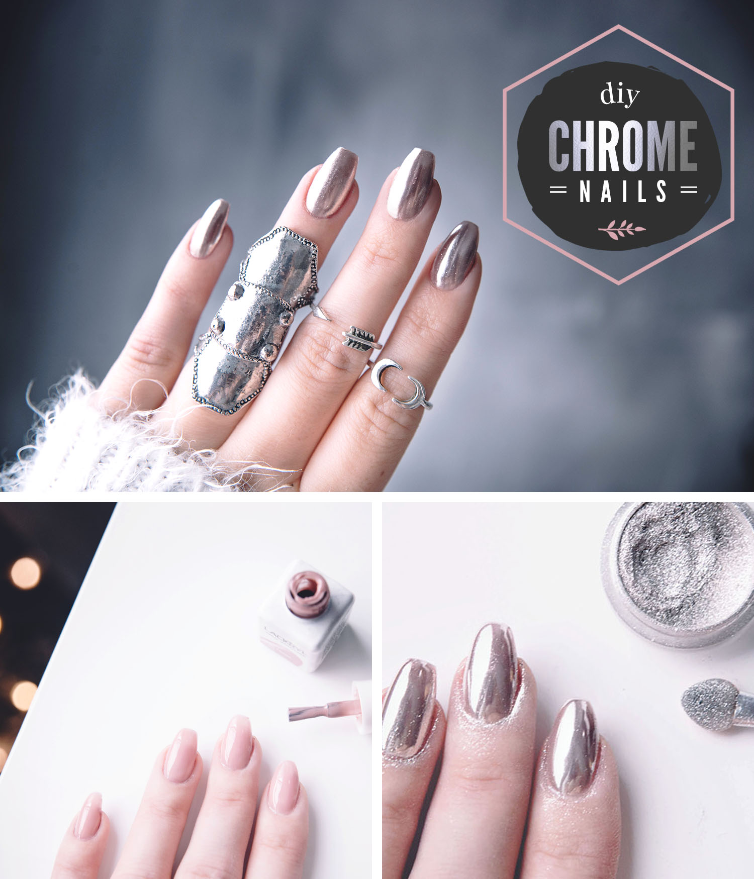 Chrome Nails Tutorial Diy Chromenaglar