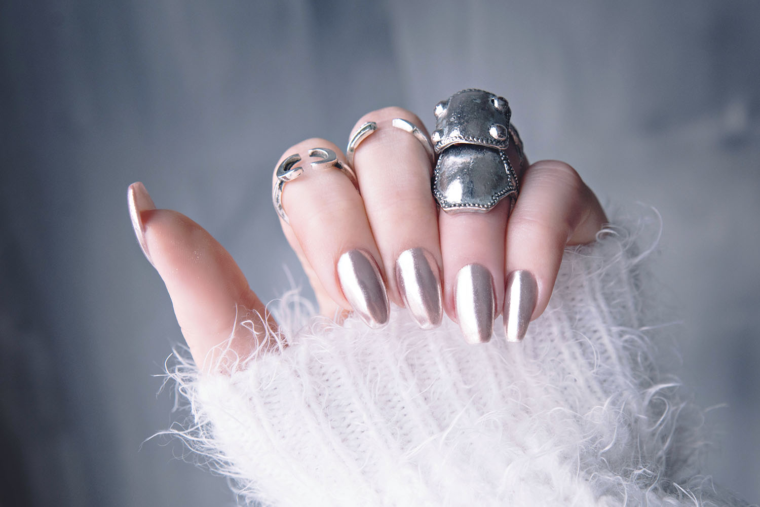 Chrome Nails Tutorial - DIY: Chromenaglar med Lackryl