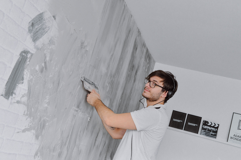 DIY: Concrete Wall / Fuska dig till en betongvägg