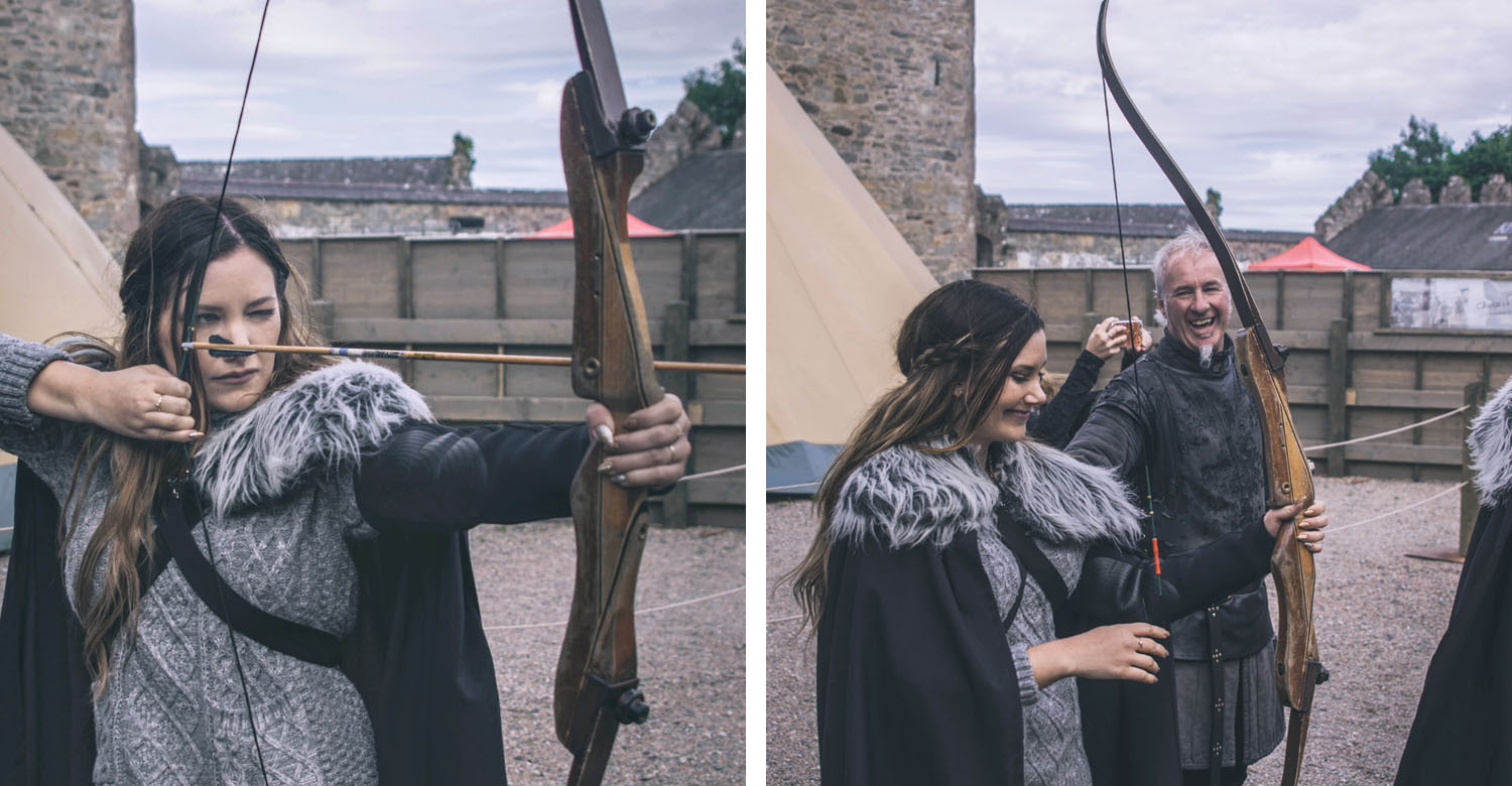 Game of Thrones archery experience at Winterfell Castle & Demesne