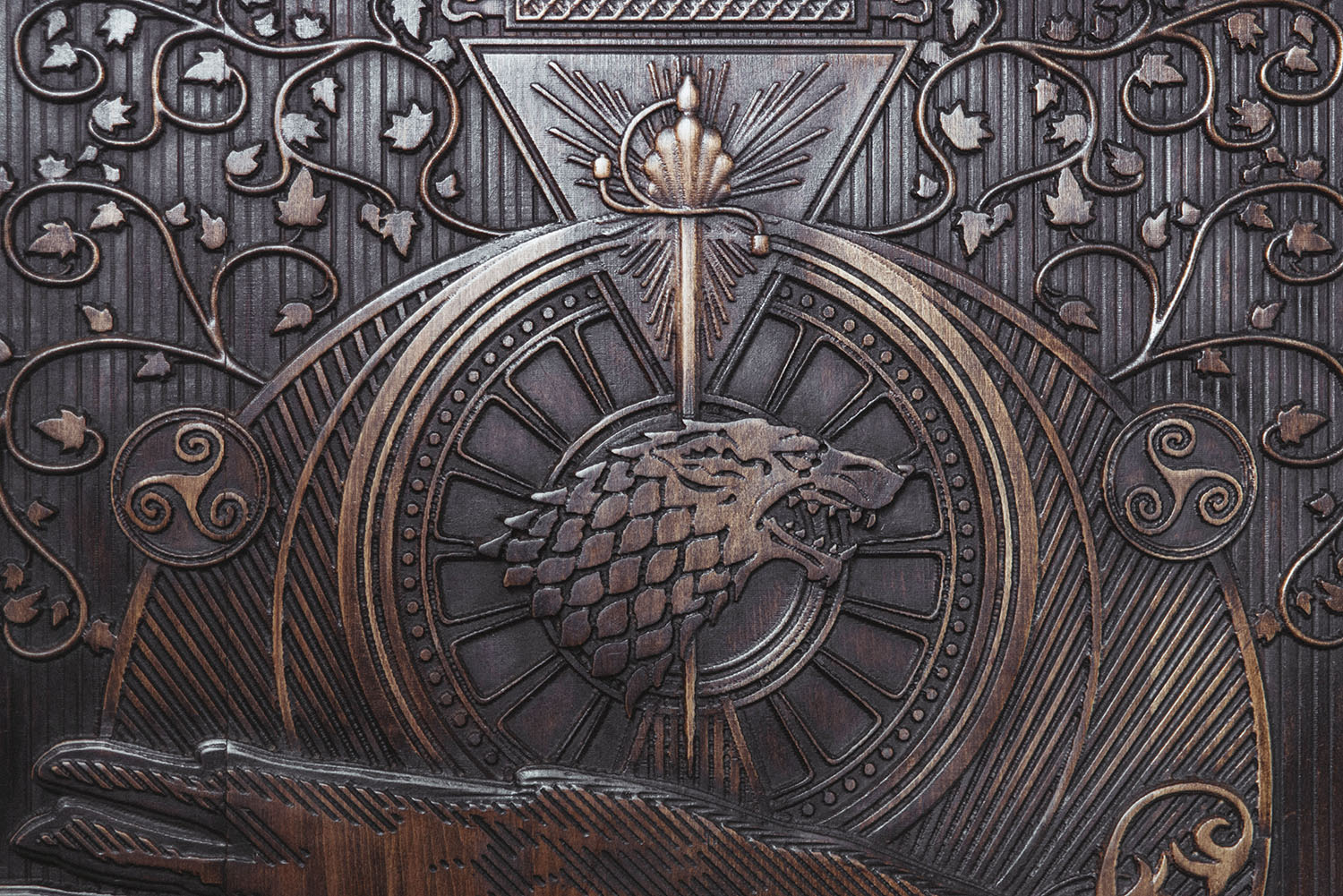 Close up at Game of Thrones Door 7 at Gracehill House
