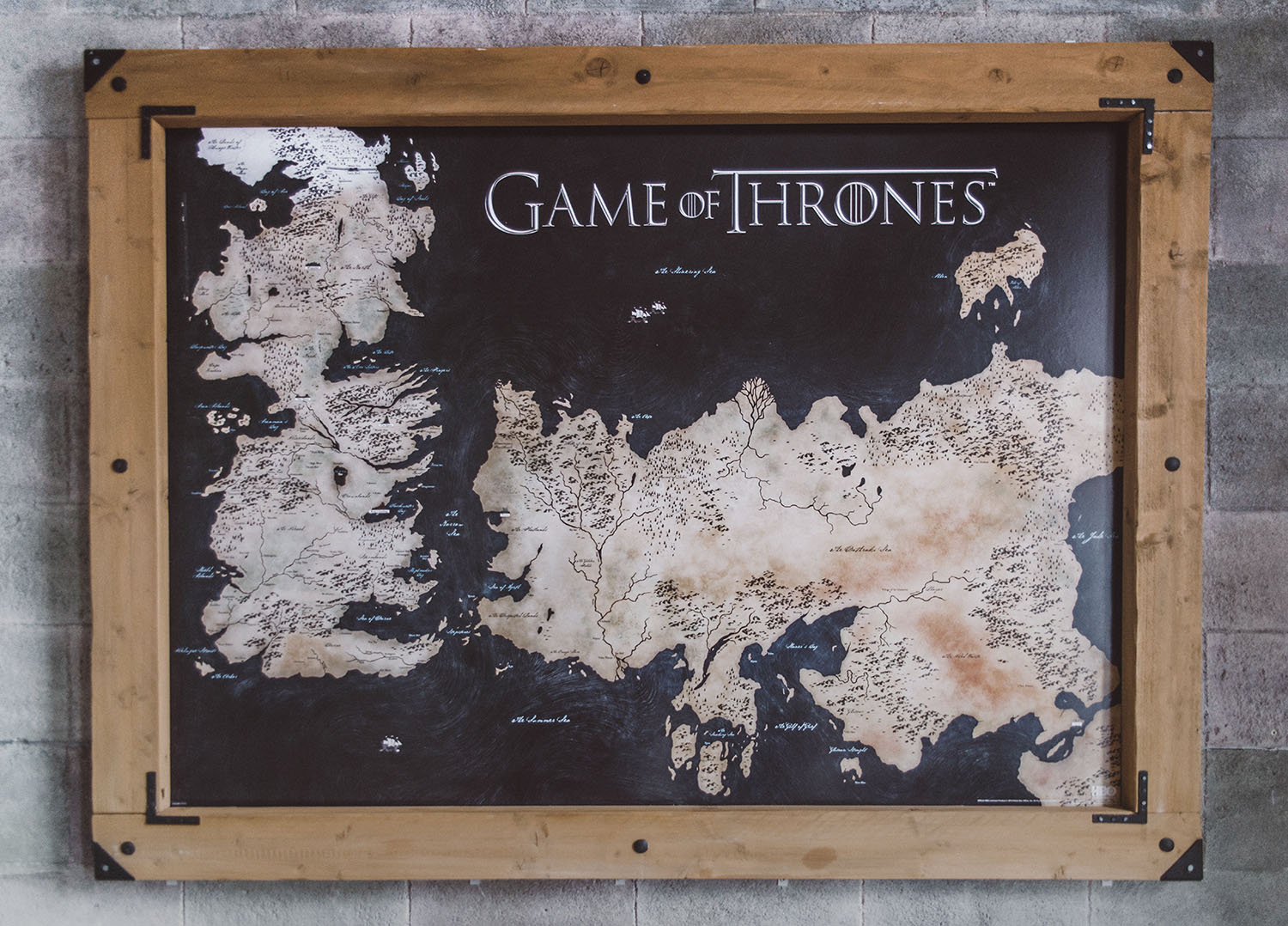 Game of Thrones Map of Westeros