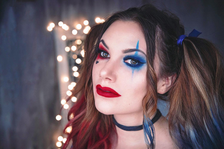 Harley Quinn Makeup - Halloween Costume Idea