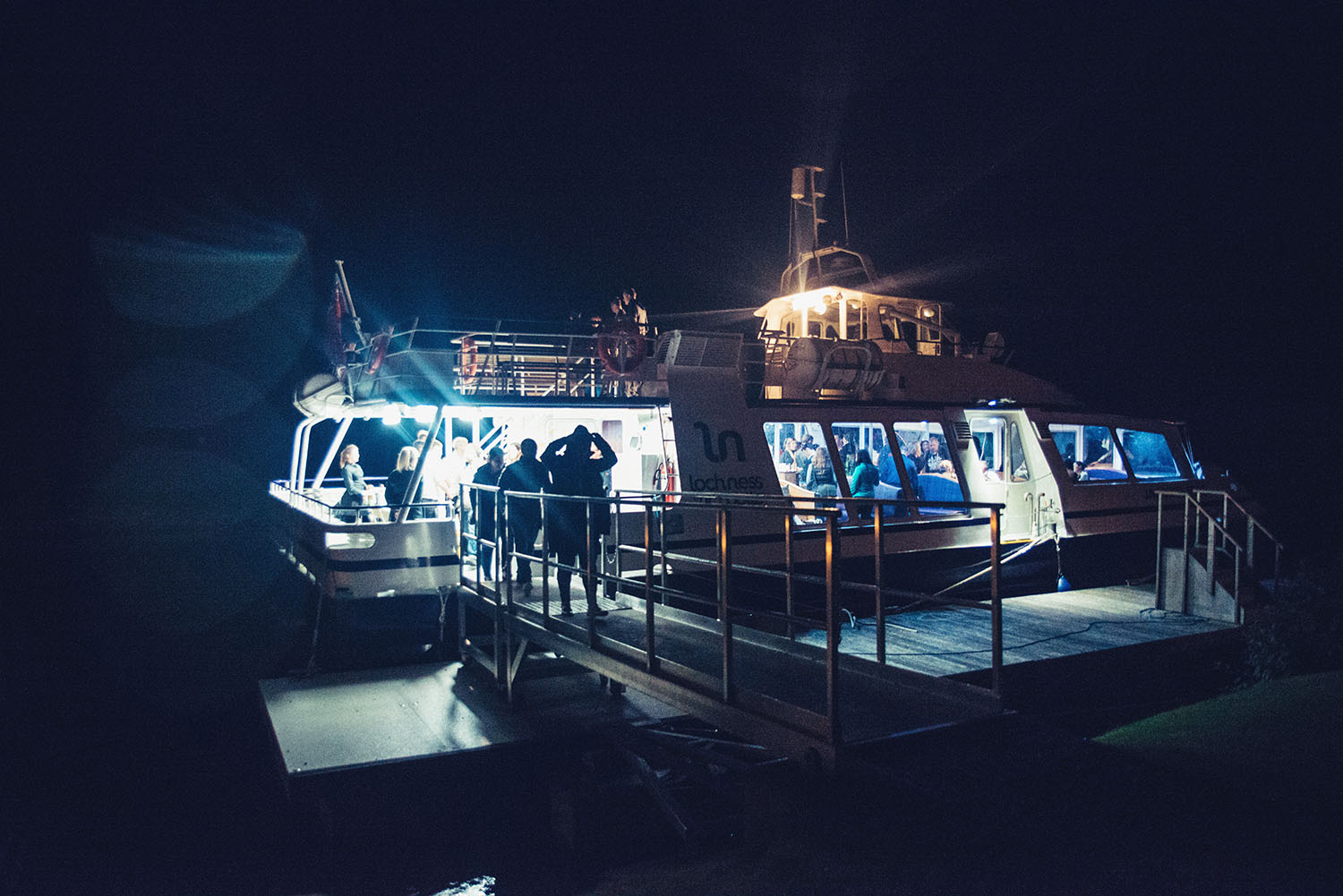 Boat in the dark - Loch Ness by Jacobite