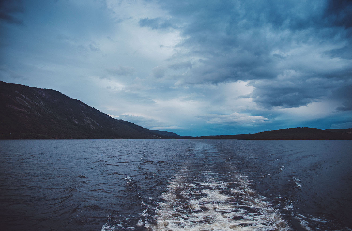 View from a boat of Loch Ness in Scotland