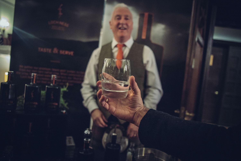 Raising a glass of Loch Ness Gin