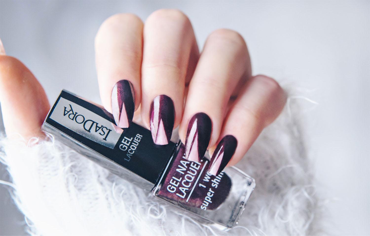 Negative Space Nail Art with IsaDora 267 Haute Hippie