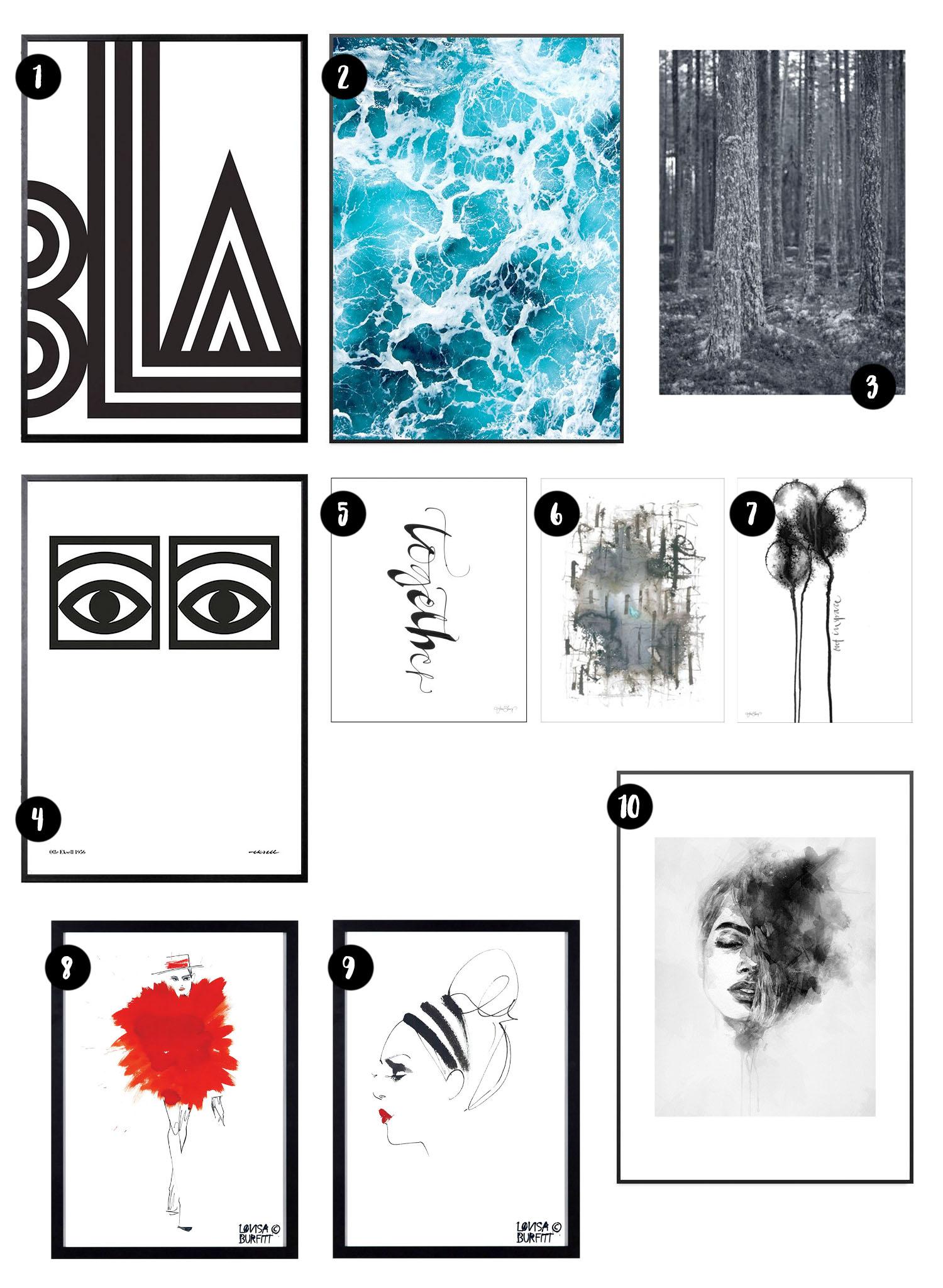 Grafiska & stilrena posters