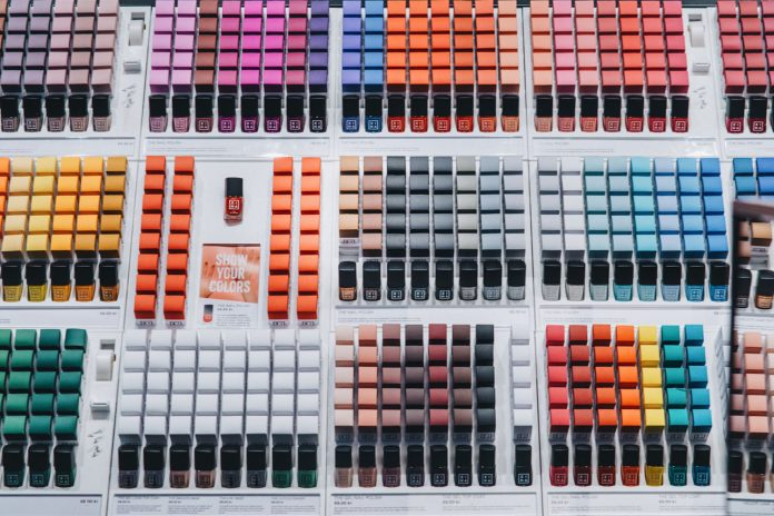Colorful makeup in Store