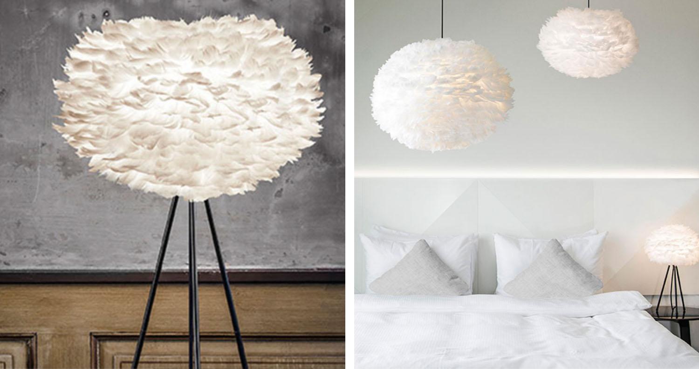 Vackra ljuskällor - Eos lampskärm - Fluffy white lamp